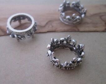 10pcs antique silver crown Pendant Charms 20mm