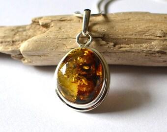 Amber Jewelry, Amber Pendant, Amber Necklace Pendant, Natural Amber Pendant, Silver Pendant, Amber Stone, Amber Jewelry