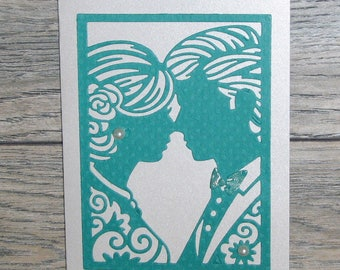 Teal Face to Face Anniversary Card-CB123117-1