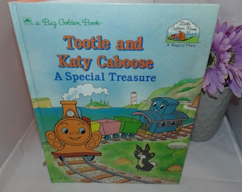 Vintage 1989 Tootle and Katy Caboose A Special treasure Big Golden book Illustrated HC
