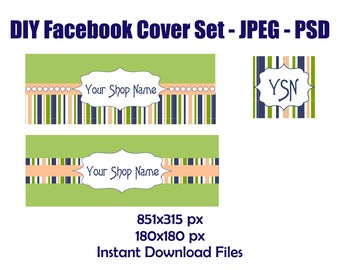 diy facebook banner set, diy banner, diy templates, psd files, facebook psd set, facebook timeline, facebook template, digital banner set