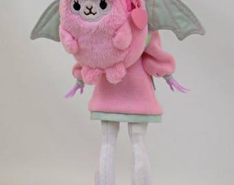 Blythe Pullip school Alpaca Plush backpack purse Doll Pastel Goth