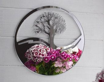 Tree of Life Circle Acrylic Mirror
