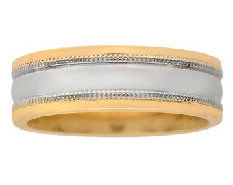 5.7mm 14K Yellow Gold Comfort Fit Wedding Band Ring