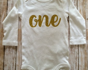 First birthday bodysuit- one bodysuit- first birthday- baby shirt- baby birthday shirt- baby birthday- first birthday outfit- smash the cake