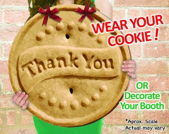 """WEAR Your COOKIE! Girl Scout """"Thanks-A-Lot"""" Cookies Booth Poster Decoration PRINTABLE Large 19x19"""" Sign +Bonus"""