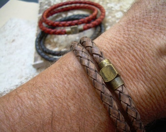 Men's Bracelets Leather, Leather Bracelets, Mens Leather Bracelets, Mens Bracelets, Leather Wrap Bracelets, Magnetic Bracelet,