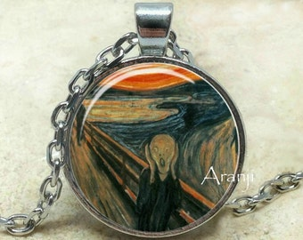 Edvard Munch The Scream art pendant, The Scream necklace, The Scream pendant, Munch necklace, Munch fine art pendant, Pendant #AR142P