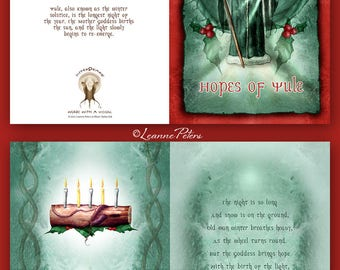 Yule - Low Holiday - Winter Solstice - Sabbat Card