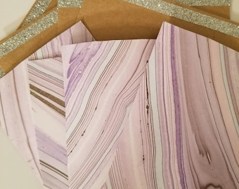 Pack of 4 Pink Greeting Cards