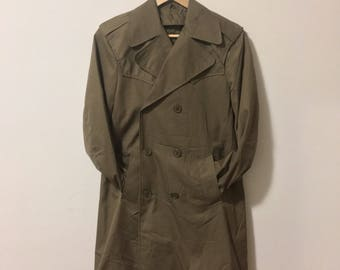 Vintage army farigue trencoat