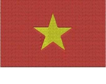 VIET NAM World Flag Embroidery Design