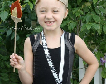 Olympic Torch & Laurels ~ Olympic Laurels ~ Olympic Costume ~ Greek Laurels ~ Grecian Costume ~ Grecian Laurels ~ Olympic Crown