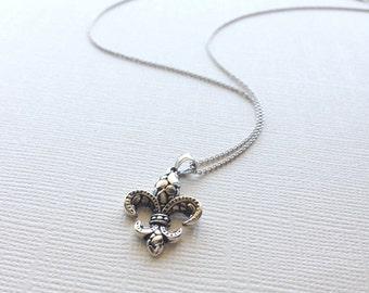 Sterling Silver Fleur de Lis Necklace