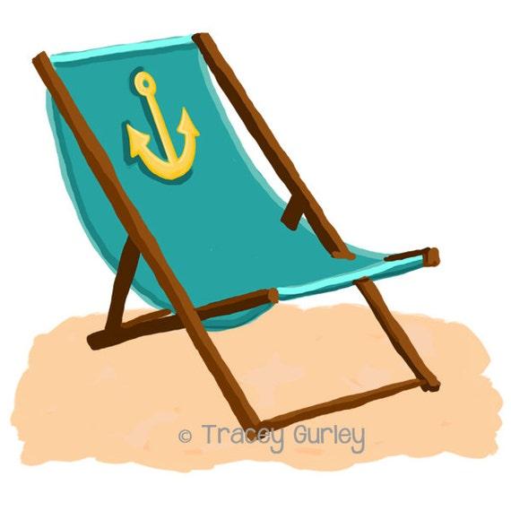 Strandkorb comic  Türkis Strandkorb mit Anker mit und ohne Sand