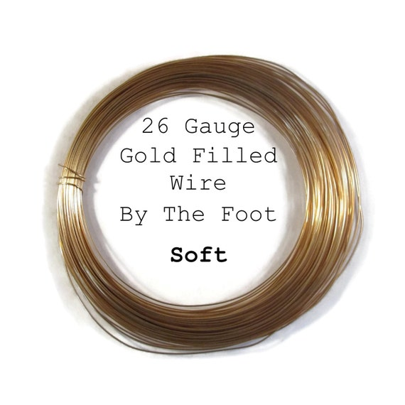 26 Gauge Wire, SOFT, Gold Filled Wire, By The Foot, Round, Thin Wire for Wrapping Jewelry, Gemstones and Beads