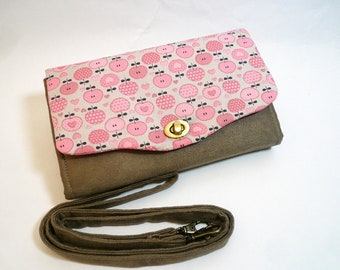 Large wallet with strap, crossbody purse/card holder, wallet clutch