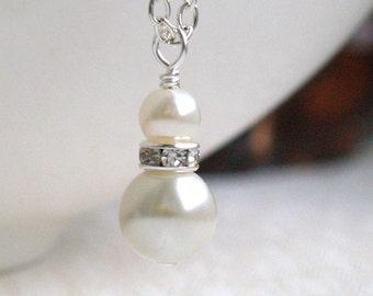 Set of 7, Ivory Bridesmaid Jewelry Set of 7, Bridesmaid 7 Necklaces, Bridesmaid Gift 7, Swarovski Pearl Bridesmaid Jewelry, Wedding Party
