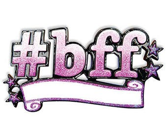 BFF Best Friends Forever Personalized Christmas Ornament