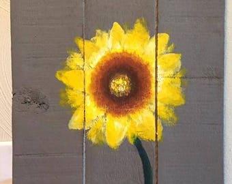 Flower Home Pallet Sign