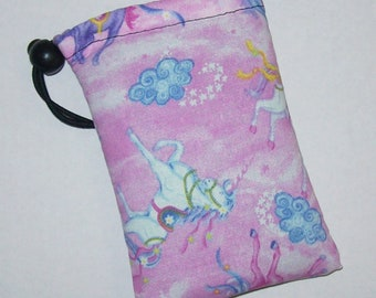 """Padded Pouch, Unicorn Bag, Pipe Pouch, Pipe Case, Glass Pipes, Pipe Bag, Padded Pipe Pouch, Magical, Cute Pink Bag, 420 Gift - 5"""" DRAWSTRING"""