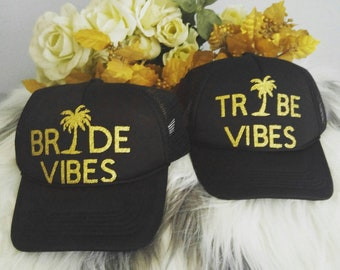 Bride Vibes & Tribe Vibe hats