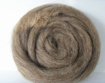 25g french wool felting or spinning Brown natural color