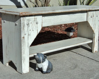 Rustic Bench, Indoor Bench, Entry Bench, Farmhouse Bench, Wooden Bench, Farmhouse Furniture, Entryway Bench, Mudroom Bench, Shoe Organizer