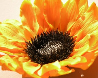 Polymer clay sunflower