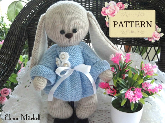 Knitting pattern bunny rabbit toy animal pattern knitted bunny knitting pattern bunny rabbit toy animal pattern knitted bunny pattern knit doll pattern amigurumi baby toys kids pattern pdf english from solnishko43 dt1010fo