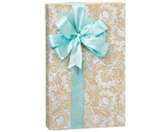 Lace Borders  Gift Wrap Wrapping Paper-18ft Roll w. 20Gift Tags