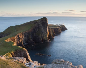 Sunset at Neist Point Lighthouse, Isle of Skye