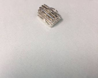 Sterling Silver Lobster trap Pendant