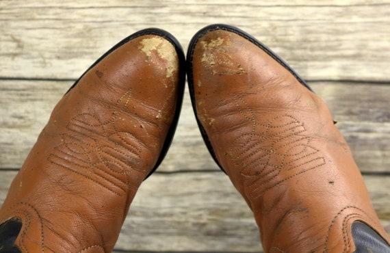 Brown Vintage Western Distressed Cowboy 10 Mens Boots Leather D Texas Size 5 Black q47tpnHwU
