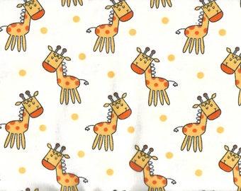 """GIRAFFES Flannel Fabric , 1 yard x 42"""" wide"""