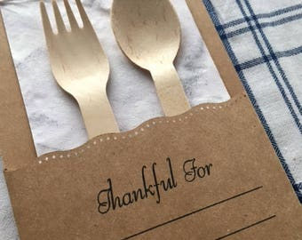 Easter Utensil Holder with Space to write 3 things you are thankful for