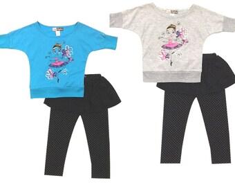 3892 - bailarina danza de 2PC niñas niño