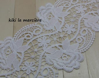 lace, white lace trim embroidered 12.5 cm thick