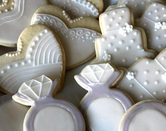 Bridal Shower Decorated Sugar Cookies