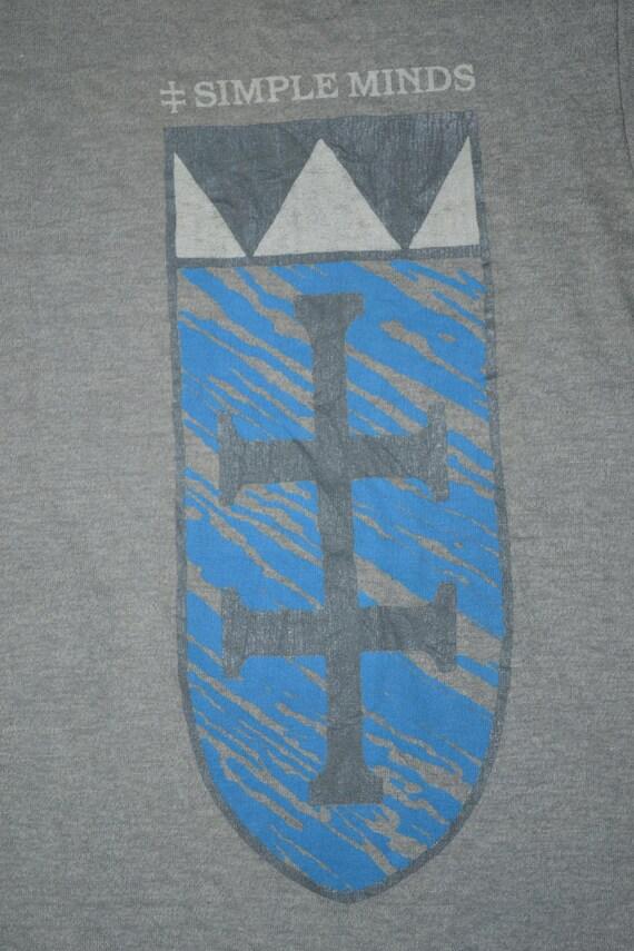 SIMPLE Wave rare Tour New Vintage 80s MINDS Promo T North super 1984 America Concert album shirt gxn54qnW