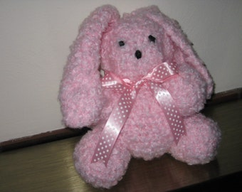 Bunny, Stuffed Toy, Handmade, named Pearly