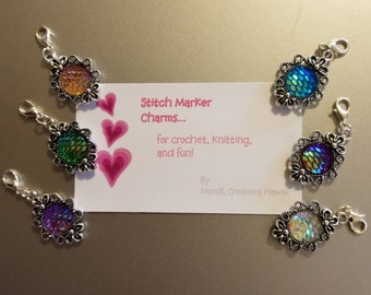 Mermaid stitch marker charms