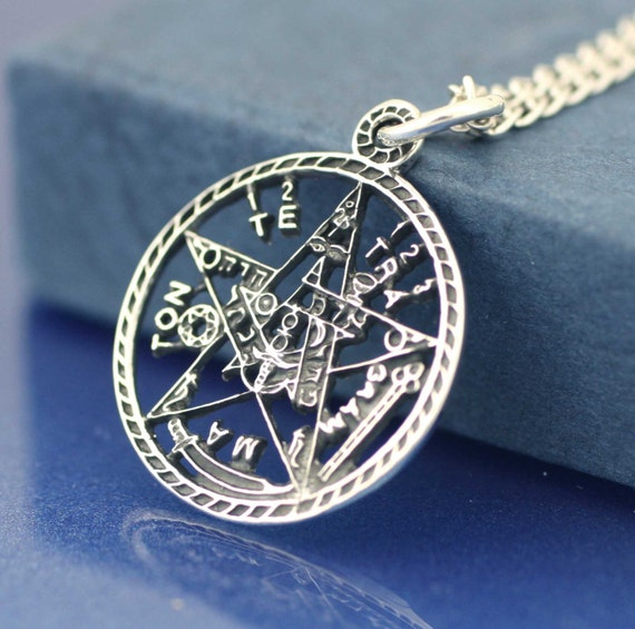 Pentagram necklace sterling silver pentagram necklace medium aloadofball Choice Image