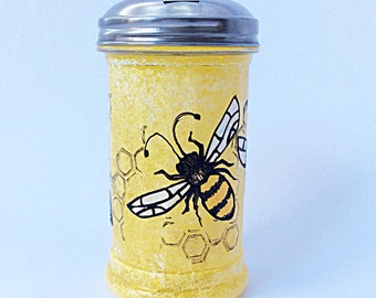 Bees Bees Bees sugar dispenser hand painted