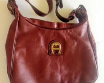 Vintage ETIENNE AIGNER Shoulder Bag Purse Large