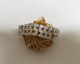 Vintage Monet Clear Crystal Stretch bracelet