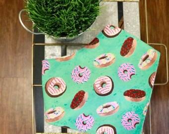 Donut Dog Bandana, Dog bandana, donuts bandana, summer bandana, snap on dog bandanag