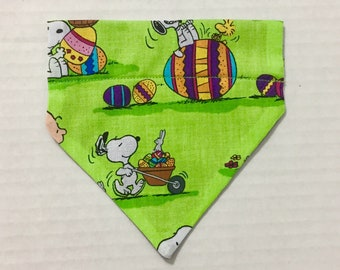Snoopy Peanuts Easter Eggs Bunny Charlie Brown Pet Dog Cat Bandana Scarf