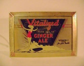 Vintage Vitalized Ginger Ale Sign