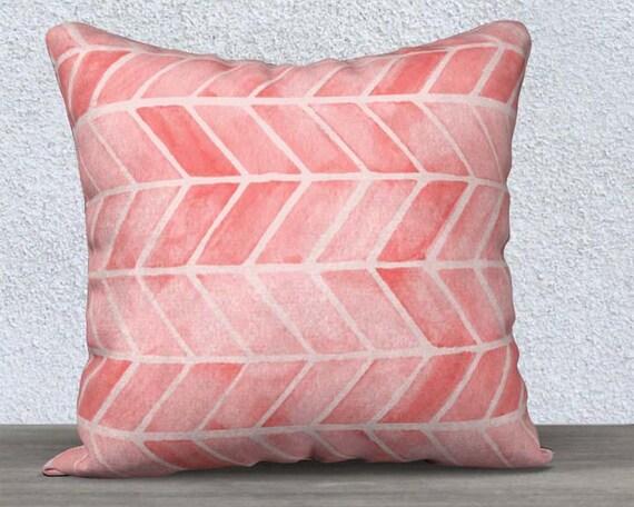 "Blush Arrow Print Pillow Cover, 14""x20"", 18""x18"""
